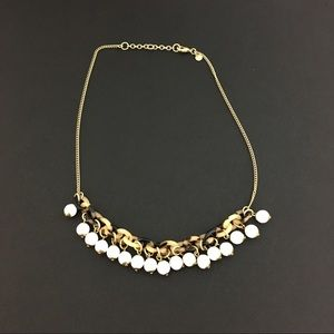 J.Crew choker unique tortoise shell links & beads